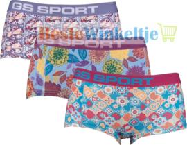 3x GS Sport Dames Boxers Print