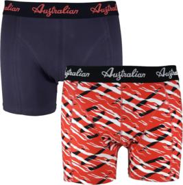 Australian Heren Boxers Red Scratch 2-pack