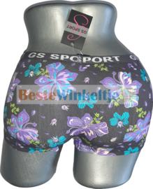 2x GS Sport Dames Print Zwart/Paars