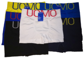 6x UOMO naadloze Herenboxers Color