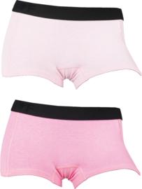 2x Funderwear damesboxers Pink-Roze 72004