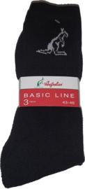 6x Australian Heren sokken zwart
