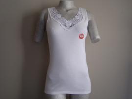 SALE! Tokerhemd met luxe Kant Wit