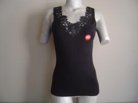 SALE! Tokerhemd met luxe Kant Zwart