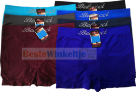 7x Belucci naadloze Herenboxers Color-Pack