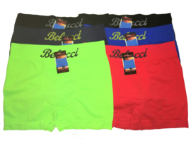 6x Belucci naadloze Herenboxers Color Pack