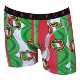 """SALE! Funderwear Boxershort """"Italy"""" Rood/Groen/Wit"""
