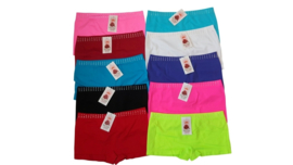 4x Sweet Angel Naadloze Dames Boxers Strass Zwart-Wit