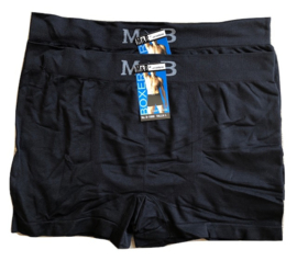 6x UOMO-M&B naadloze Herenboxers Zwart Smooth