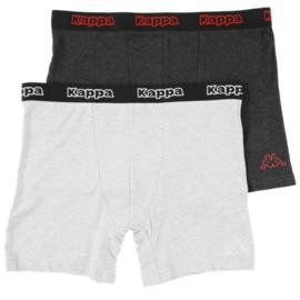 """2x Kappa Heren Boxers """"Grijs/Antracite"""""""