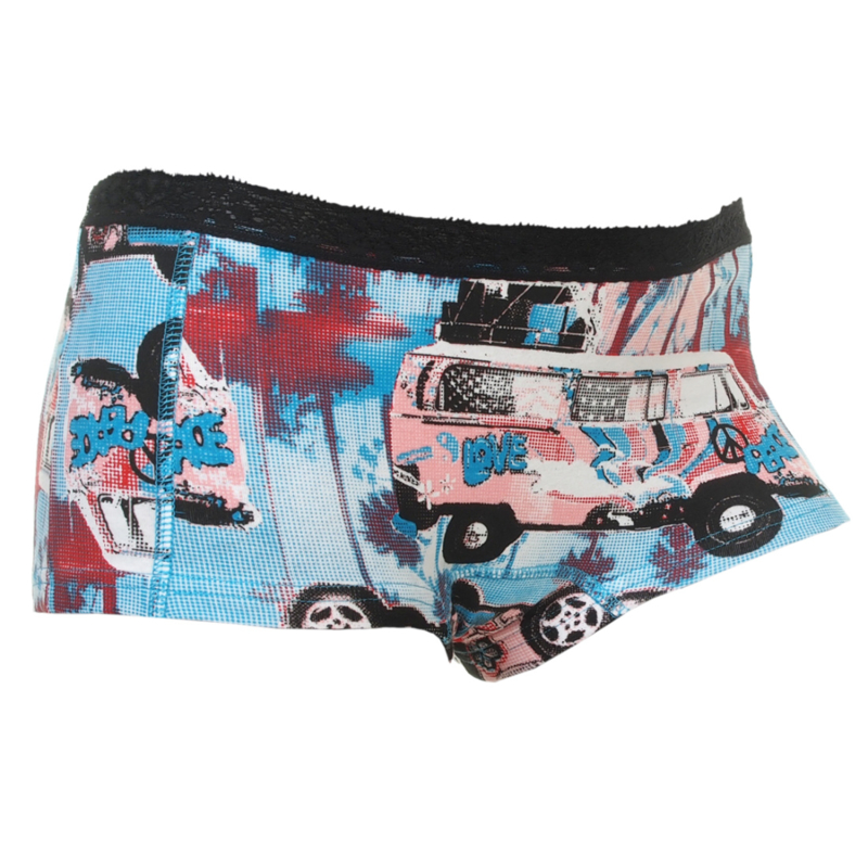 "Funderwear Dames boxer ""Hippie Bus"""