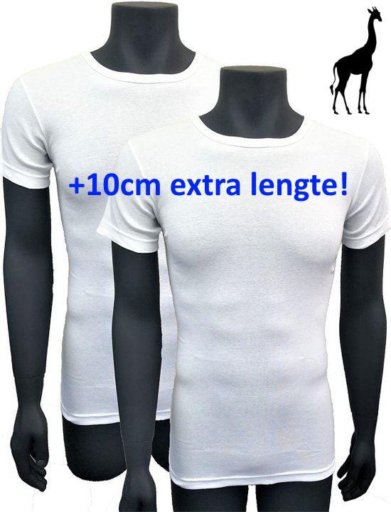 5x Naft Giraffe T-shirt Slim-fit Extra lang Wit