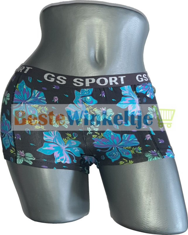 2x GS Sport Dames Print Zwart/Turqoise