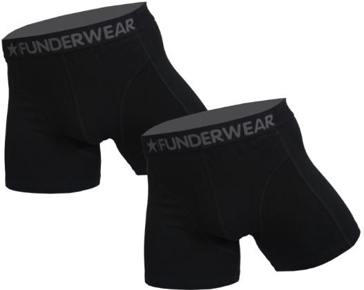 """2x Funderwear Heren Boxers """"Black"""""""