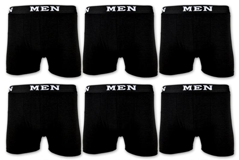 SALE! 6x Men Heren Boxers Katoen Zwart