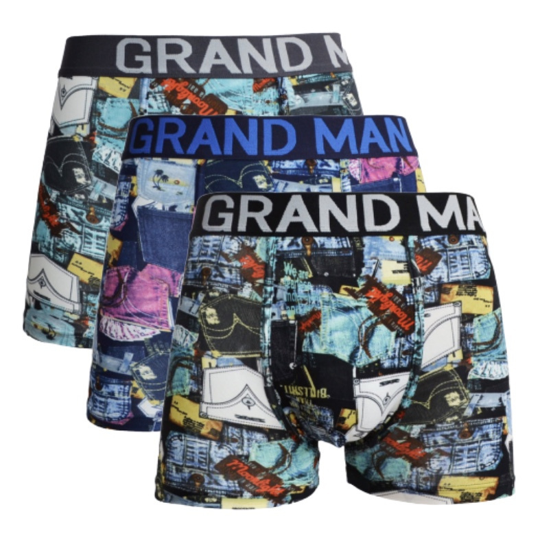 "3x Grand Man Heren Boxers ""Holiday"" 5038"