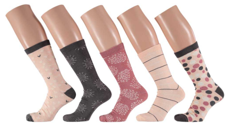 10x Apollo Dames Sokken Assortie Roze