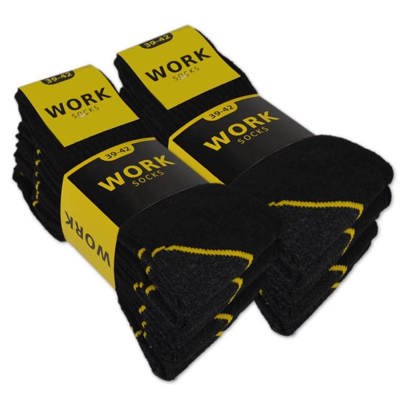 10x Naft WORK katoenen werksokken Zwart