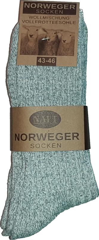 6x Naft Noorse Geiten Wollen Sokken Lichtgrijs