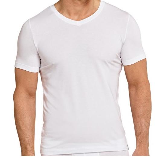 3x NAFT T-shirt V-hals Slim-fit Wit
