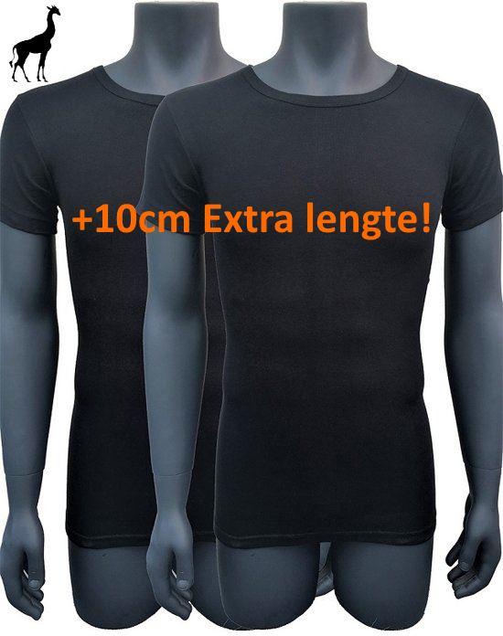 5x Naft Giraffe T-shirt Slim-fit Extra lang Zwart