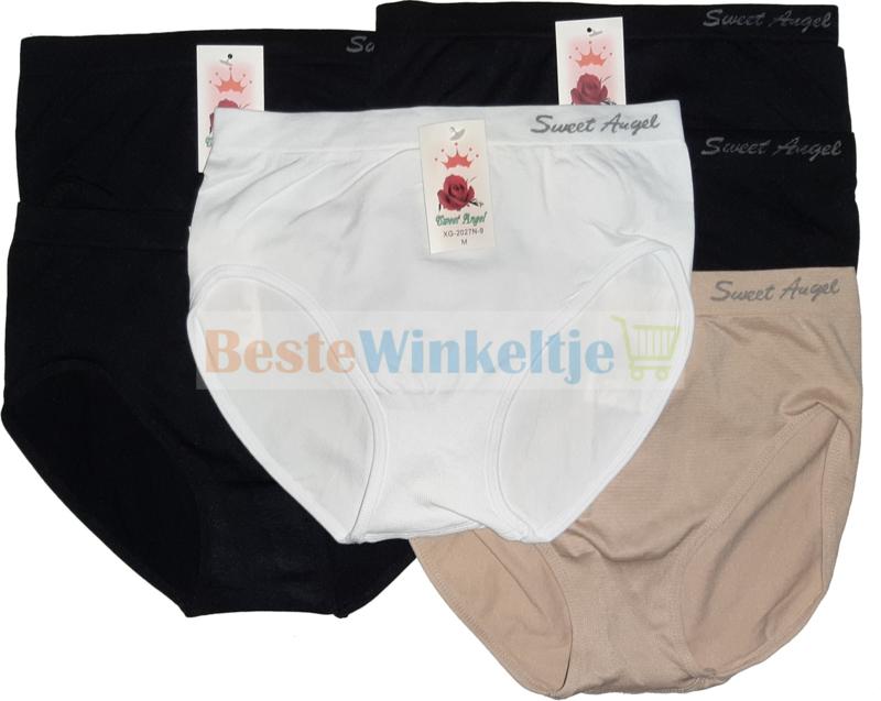6x Sweet Angel Naadloze Dames slips Multipack