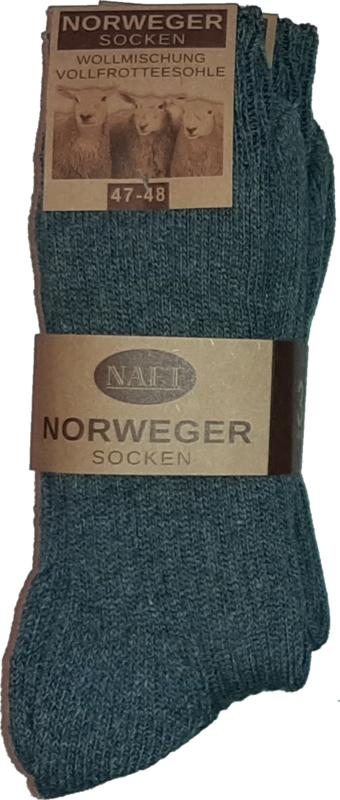 6x Naft Noorse Geiten Wollen Sokken Donkergrijs