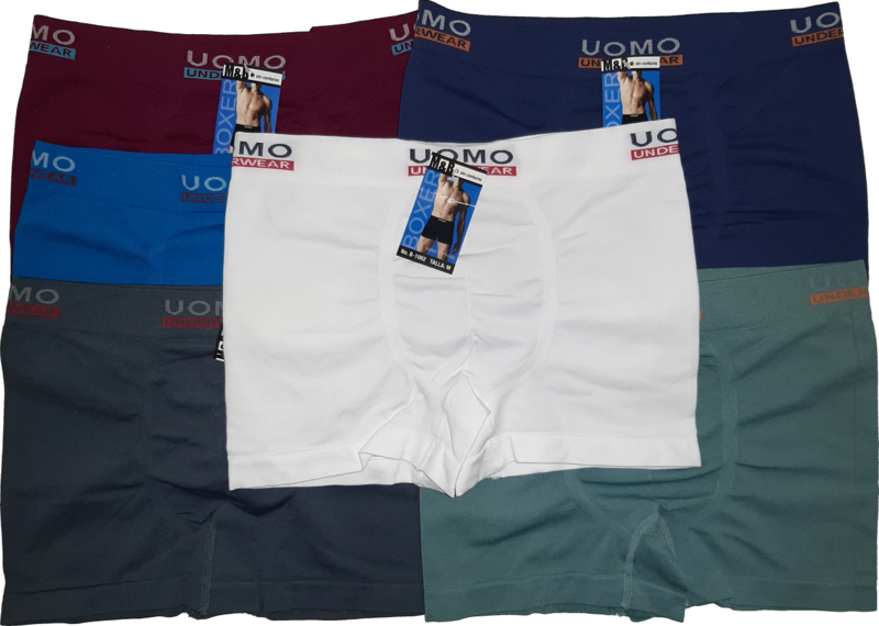 6x UOMO naadloze Herenboxers Color Smooth