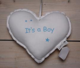Stoffen hart 'It's a Boy'