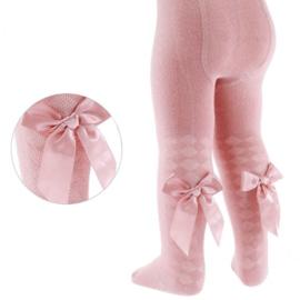 Maillot ruit met strik oud roze