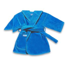 Badjas velours turquoise