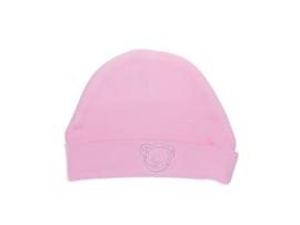 Mutsje rond met beer, roze