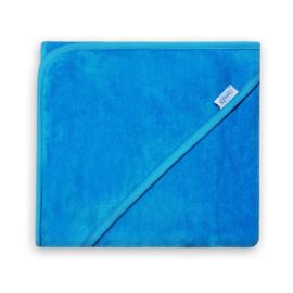 Badcape velours turquoise