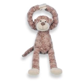 Slinger aapje bruin, handjes met klittenband