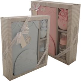 Cadeau set Kris x Kids 4 delig roze / blauw