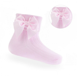 Baby - peuter sokjes met strikje roze
