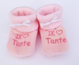 Slofjes I love tante roze