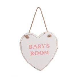 Hanger baby's room roze