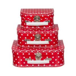 Koffertjes Small rood stip