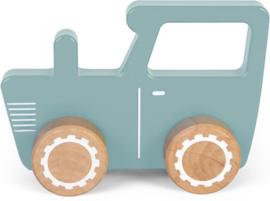 Little Dutch Houten Traktor Blauw
