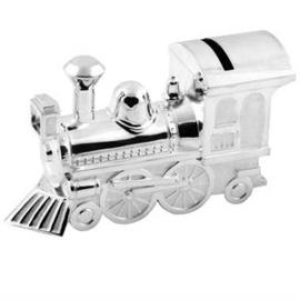 Spaarpot locomotief verzilverd