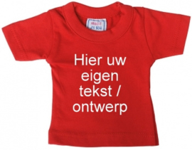 Mini shirt rood