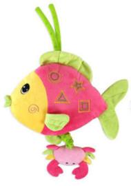 Muziekhanger - Roze vis met krab