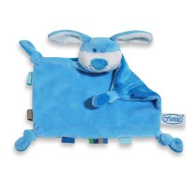 Tutdoek hond blauw