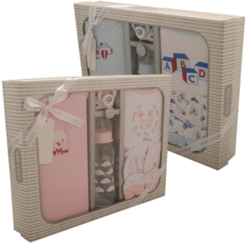 Cadeau set Kris x Kids 6 delig roze / blauw