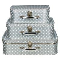 Koffertjes Large zilver met ster