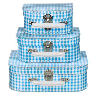 Koffertjes Small ruit blauw