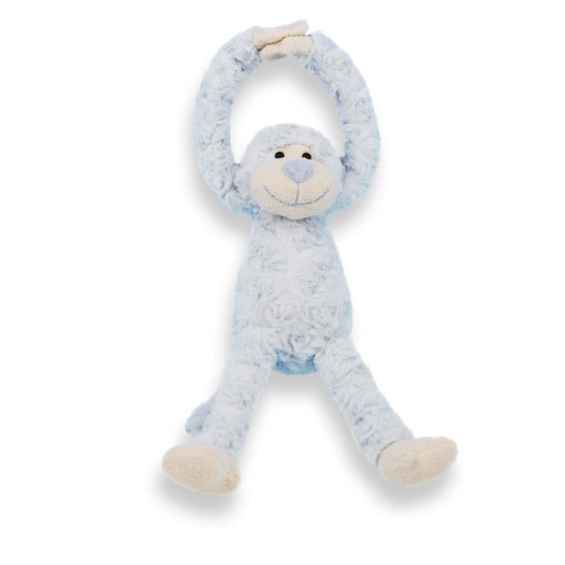 Slinger aapje blauw, handjes met klittenband