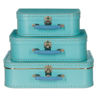 Koffertjes Large lichtblauw (set of los)