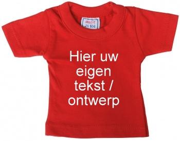 Mini shirt rood